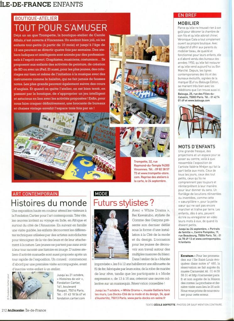 art et deco article enfant sept 2012 trompette vincennes