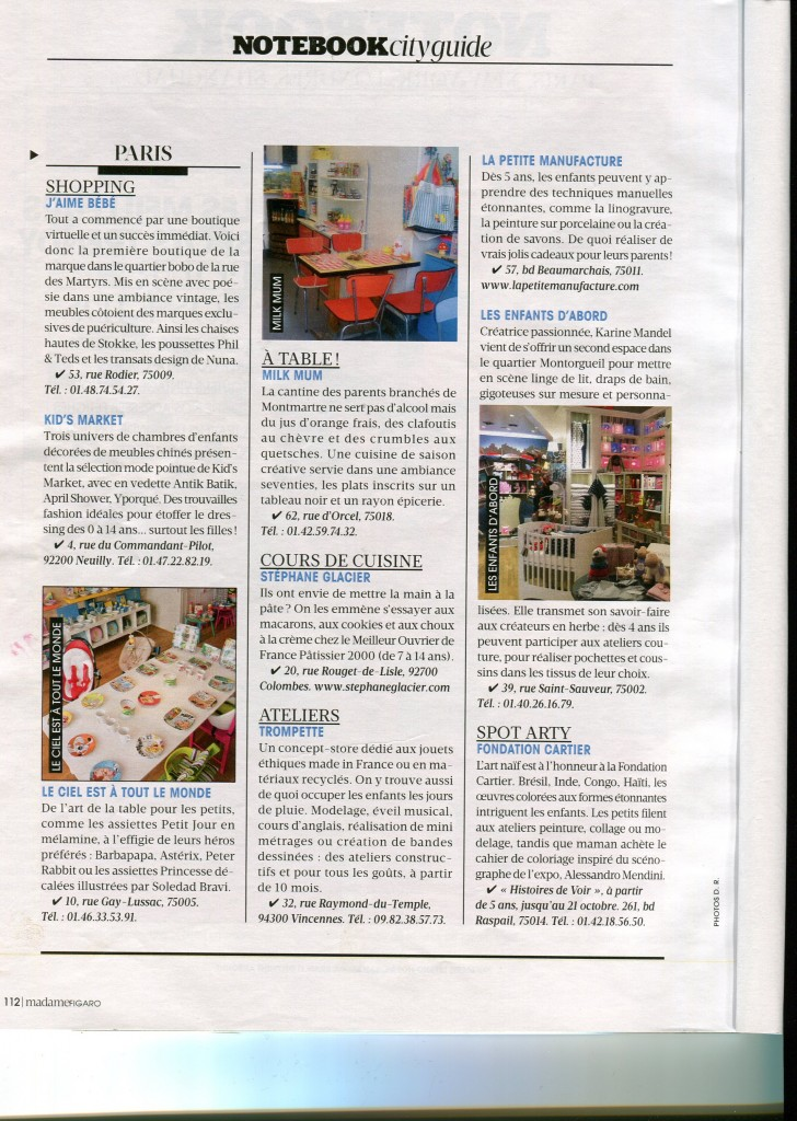 madame figaro article aout 2012 trompette vincennes